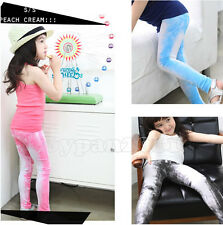 Kids Toddlers Girls Bright Cheap Tights Elastic Leggings Pants Trousers Sz2-7Y