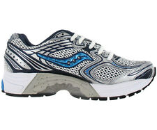 Saucony Progrid Guide 3 Womens Running Shoes White Silver Navy Size