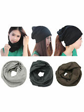 Unisex Women Men Slouch Winter Hip-hop Ski Crochet Cap Beanie Bonnet Hat Scarf
