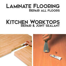 LAMINATE FLOORS REPAIR KIT OAK BEECH WALNUT BLACK WHITE Kitchen Worktop Sealant