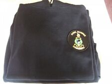 ROYAL MARINES COMMANDO NAVY HOODIE WITH ROUND BADGE