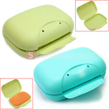 Convenient Bathroom Travel Soap Box Cover Container Case Holder Shower Camping