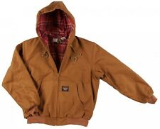 Rasco FR Brown Duck Insulated FLAME RESISTANT Hooded Jacket  NWT