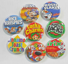 "Breakfast Cereal Flatback - Pin Back Buttons 1"" for Bows Embellishment"