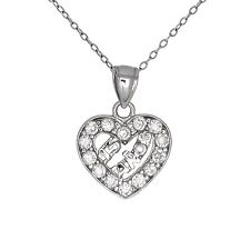 Sterling Silver Sweet 15 Anos Birthday Quinceanera Necklace Pendant Made in USA