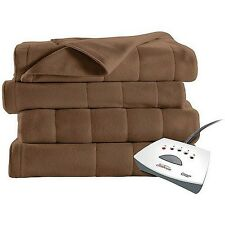 Sunbeam Electric Blanket Heated Fleece Warming Blanket ASSORTED Colors NEW