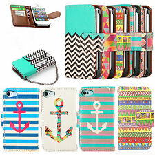 Stylish Hybrid Wallet PU Leather Stand Case Flip Case Cover For iphone/Samsung