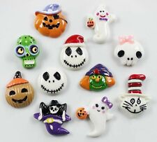 Halloween Decorations Skull Pumpkin Cat Ghost Fridge Magnet Sticker Iron Sticker