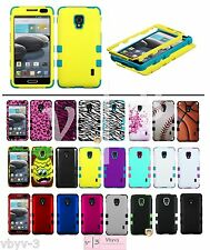 Silicone Rubber TUFF HYBRID Armor Hard Case Cover for LG Optimus F6 MS500 D500