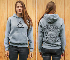 Harry Potter Deathly Hallows 2 Sided Adult Unisex Hoodie
