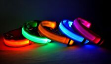 LED Glow Collar Dog Puppy Pet Tag Flashing Light Safety Leash Nylon Harness