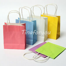 "6""*3""*7.1"" Colorful Kraft Paper Bag Gift Bags Party Holiday Wedding Shopping Bag"