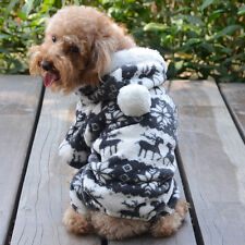 Cute Stylish Warm Winter Hoodie Jumpsuit Coat Clothes Costume for Chihuahuas