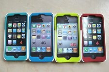 Switch Easy Silicon Rubber With Plastic Back Case  For Apple iphone 4G /4GS