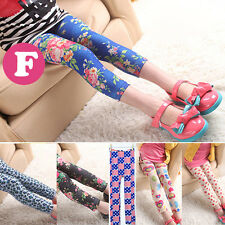Hot Lovely Baby Kids Girls Leggings Pants Floral Printed Trousers For 3-12 Years