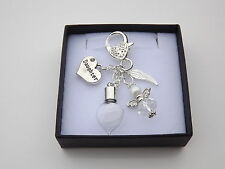 In Loving Memory..Daughter..Feather From An Angel Keyring..Personalised Gift Box