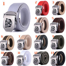 New Men Women's Buckle Waistband Handmade Waist Transformers Canvas Leather belt