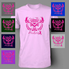 SAVE THE HOOTERS breast cancer ribbon Mens T-Shirt