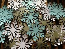 100 GIANT snowflakes FROZEN  confetti table decorations card White silver blue