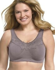 Just My Size Pure Comfort Wirefree Lace Bra  - Style 1271 - Featuring Gray
