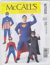 McCall's Sewing Pattern M7002  Men's'/Boys' Super Hero Costumes New UNCUT