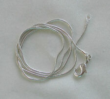 """Jewellery Craft Design - Silver Plated Snake Chain Chains Findings 20"""" PACKS"""