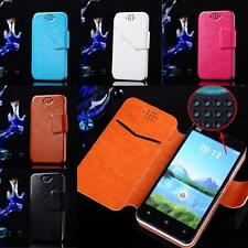Universal Luxury Flip Leather Hard Wallet Case Cover Pouch For All Smart Phones