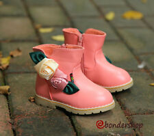 2014 Kids Princess Sweet Martin Boots Girls Satin Flower Plush Ankle Boots Shoes