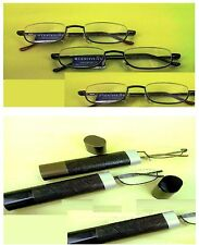 3 Pairs Magnivision Compact Tube Reading Glasses by Foster Grant Spring Hinges