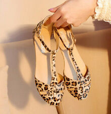 Leopard Print Flat Women's Sandals T-strap Summer Shoes Fashion Sandals LCJ