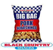 Big Bag Blue/Red 90g Black Country Pork Scratchings - Available Sizes - 10/15/20