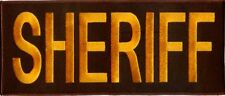 SHERIFF Patch w/ Velcro Backing 3 Sizes White, Urban, OD, Brown, Gold FREE SHIP!