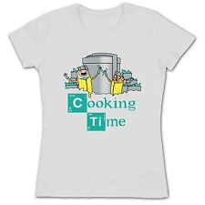Women's Adventure Time Cooking Time Breaking Bad Jake Finn TV Show T Shirt