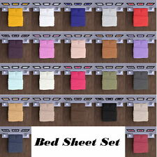 Mezzati Soft and Comfortable Brushed Microfiber Bed Sheet Set with Deep Pockets
