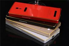 Ultra-thin Aluminum Metal Bumper With Acrylic BackCover Case For OPPO Find 7