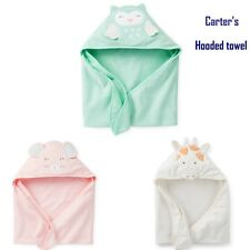 NWT New Carter's Baby 3-D Hooded Bath Towel Carters Bebe Terry Material 30 * 30