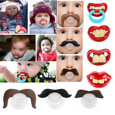 Teeth Mustache Baby Boy Girl Infant Pacifier Orthodontic Dummy Beard Nipples New