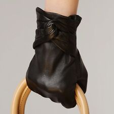 Ladies Womens Genuine Nappa Leather Dress Classic Lined Warm Gloves On Sale #074