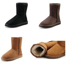 Sheepskin Womens & Childrens Kids Junior Classic Short Ankle Boots Winter Shoes