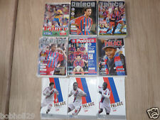 Crystal Palace Home Programmes  1997/98 to 2008/09