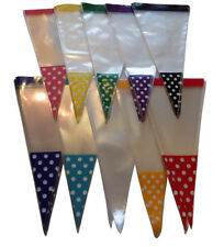POLKA DOT SPOT Cone Cello Clear  Party  Gift, Sweet, Treats, Candy Favor Bags