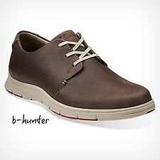 New Clarks Men's MILLOY VIBE Dark Brown Leather Lace Up Casual Oxford 26102498