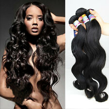 "Brazilian Human Hair Remy Virgin extensions Body Wave  16""18""20'in 100G 6A"