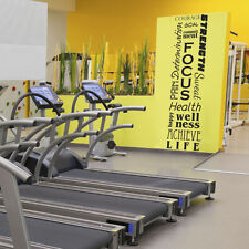 Full Wall Motivational Inspirational Fitness Decal Mural by Katazoom