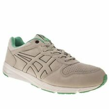 Onitsuka Tiger Shaw Runner Grey White Green Suede New Mens Trainers Shoes Boots