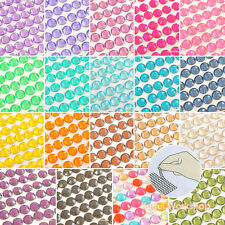3-6mm Colors Stripe Self-Adhesive Acrylic Rhinestones Stick On Scrapbooking Gems
