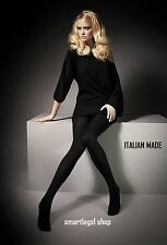 NEW Ladies Tights Womans Opaque Thick Cotton 300 Den Black Italian WINTER SALE