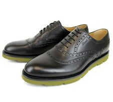 $695 New Authentic Gucci Mens Leather Dress Shoes Oxford w/Logo, 322483 1000