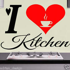 I Love Kitchen Wall Sticker transfer Decal