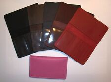 Leather Top-Stub Checkbook Cover - ID Window & 6 Card Slots - Made in USA